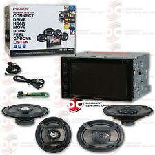 "PIONEER DOUBLE DIN CAR DVD MP3 USB CD STEREO + 6.5"" & 6"" x 9"" SPEAKERS COMBO"