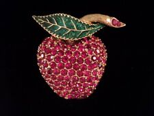 Ciner Apple Red Swarovski Crystal Brooch Pin