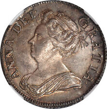Great Britain 1708 Anne Shilling NGC MS-63