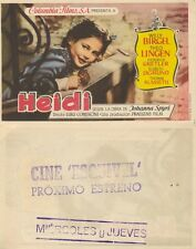 Programa de CINE. Título película: HEIDI.