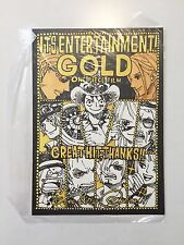 EIICHIRO ODA & CAST OFFICIAL SIGNED ONE PIECE GOLD SKETCH PRINT - ULTRA RARE