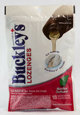BUCKLEY'S SYRUP Lozenges 18 Menthol Outburst NEW CANADIAN