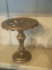 VERY RARE ANTIQUE BRASS FOLDING SOAP STAND