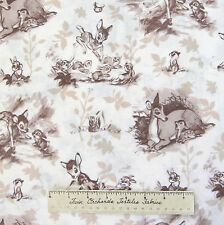 Disney Nursery & Baby Fabric - Bambi Scenic Toile Beige - Springs 24""