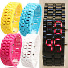 Volcanic Lava Faceless LED Digital Plastic Wrist Watch Sports Style 5 Color