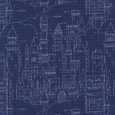 Castle Plans Michael Miller Magic Cotton Fabric Sarah Jane   Bfab
