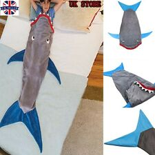 "55"" Kids Shark Mermaid Tail Fleece Blanket Soft Snuggle-in Sleeping Bag Costume"