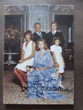 Cartolina Autografa Grace Ranieri III Principato Monaco Famiglia Reale Bozzacchi