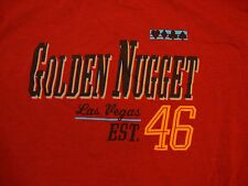 Golden Nugget Las Vegas Established 1946 Gambling Cards Soft Red T Shirt L