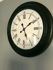 Huge Large Classic Victorian Station Wall Clock 60cm