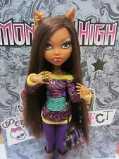 Monster High Clawdeen Wolf School's Out Tagebuch RAR Puppe Doll megalange Haare!