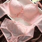 New Lady Hot Sexy Push Up Deep V Lace Bra Sets With One Lace Briefs Knickers E51