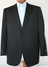 "New Corneliani Black Striped Woo 18,25 microns 1-BT Tuxedo US 46L/W38"" EU 56L"