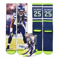 New NFL Seattle Seahawks Richard Sherman Drive Player Jersey Crew Socks