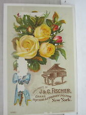J & C. Fisher Grand Square & Upright Pianos, New York Trade Card
