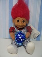 """FATHER OF THE YEAR - 6"""" Russ Soft Troll Doll - NEW STORE STOCK"""