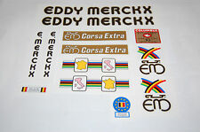 Eddy Merckx Black bike decals complete set, vintage frame restoration
