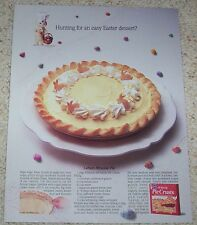 1993 ad page - Pillsbury crust CUTE Doughboy Easter lemon mousse Pie recipe AD