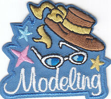 """MODELING""- Iron On Embroidered Applique Patch- Fashion Show, Model, Style"
