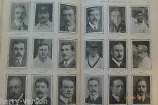 Antique Article 1905 Cricket Captains Railway Rates Bicycle Athletics Tom Browne
