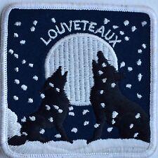 Louveteaux Patch Ecusson Loup Wolf Lune Moon Neige Snow Scout France Canada Qc