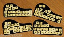 vtg 1978 Pocket Scrabble mini letter cling tile lot game parts jewelry crafts