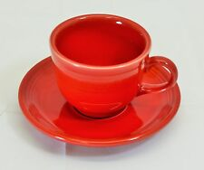 Homer Laughlin Fiesta Ware Coffee Tea Cup and Saucer Red New