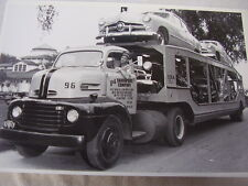 1949 FORD  NEW CARS ON HAULER  12 X 18  PHOTO  PICTURE