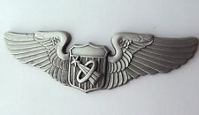 USAF AIR FORCE ASTRONAUT WINGS BASIC LAPEL PIN BADGE 3 INCHES