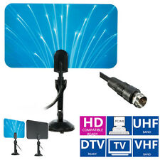 Digital Indoor TV Antenna HDTV DTV Box Ready HD VHF UHF Flat Design High Gain Bo