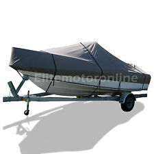 Carolina Skiff JVX 18 SC Trailerable Jon fishing boat cover grey