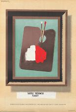 Original Vintage Poster Tadeusz Trepkowski Exhibition Polish Poland Graphic Art