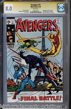 AVENGERS #71 CGC 8.0 WHITE STAN LEE SS SIGNED 1ST APP INVADERS CGC #1206503010