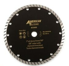 "7"" Turbo Diamond Blade 5/8 Arbor with Diamond Knockout Circular Saw Blades 8600"