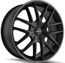 4-NEW Touren TR60 16x7 5x112/5x120 +42mm Matte Black Wheels Rims