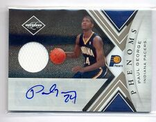 PAUL GEORGE 2010-11 LIMITED ROOKIE RC JERSEY AUTO AUTOGRAPH 48/249 PACERS