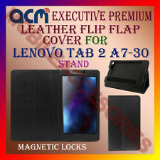 ACM-EXECUTIVE LEATHER FLIP CASE for LENOVO TAB 2 A7-30 COVER STAND CASE - BLACK