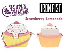 Iron Fist Strawberry Lemonade Yellow Pink Cupcake Pearl Detail Shoulder Bag