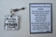 b FOLLOW YOUR Dreams ARROW Pocket Charm token Ganz actor passion new job