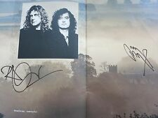 LED ZEPPELIN SIGNED PROGRAM ROGER EPPERSON COA!  JIMMY PAGE & ROBERT PLANT