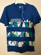NWT Adidas Originals Multi Print T-Shirt SZ XS
