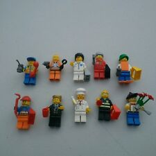 Lot of 10 LEGO Mini Figures People Complete Body Parts & Accessories Lot 3 EUC