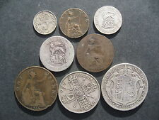George V Year set 1916 Halfcrown - Farthing. 8 Coins.