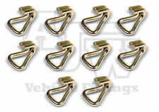 10 Steel Wire Claw Hook 25mm 1.6 T Webbing Ratchet Strap Truck Trailer Recovery