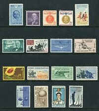 US 1961 Commemorative Year Set - Complete MNH 17 Stamps Scott 1174-1190 USA
