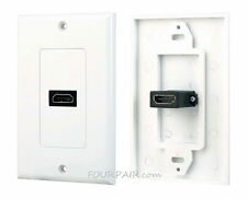 1-Port HDMI 1.4 Wall Face Plate Panel Cover Coupler Outlet Extender 1080P White