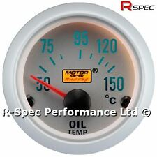 Silver Face 52mm Oil Temperature / Temp Gauge Kit With 1/8 Npt Temp Sensor