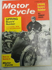 Motor Cycle Magazine, March 24, 1966, Spring Buyers' Number,   blue box 1