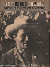 Black Cowboy George McJunkin-Folsom Discovery+Agogino,Archueleta,Bonahoon,Figgin