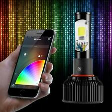 H11 Dual Function LED Headlight Bulbs + Color Changing Demon Eye Smartphone App